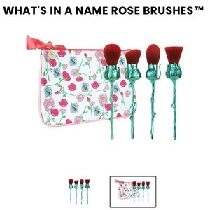 Storybook Cosmetics Red Rose Brushes
